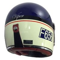 F656 - Vintage  Blue Full Face Viper Motorcycle Helmet